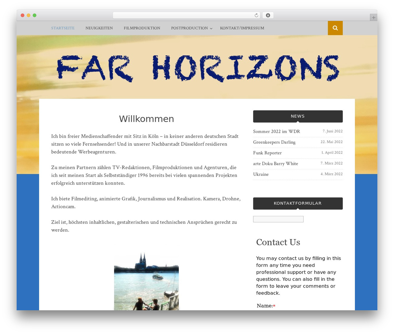 Bulan WordPress video template - far-horizons.de