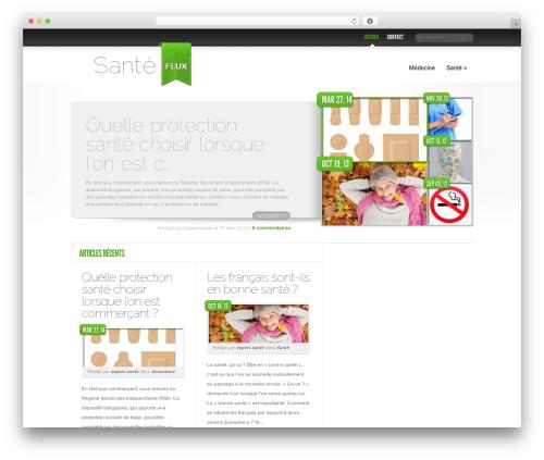 Delicate News WordPress magazine theme - sante-flux.fr