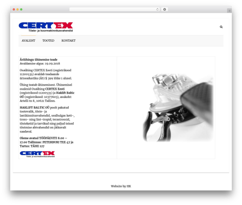 Speedy WordPress theme download - haklift.ee