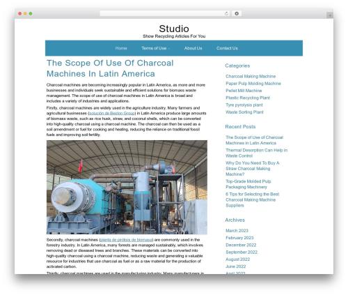 ZenWater WordPress blog theme - studio-graphique-cannes.com
