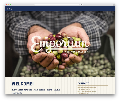 Emporium best restaurant WordPress theme - emporiumftcollins.com