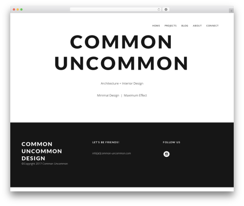 Mies WordPress theme design - common-uncommon.com