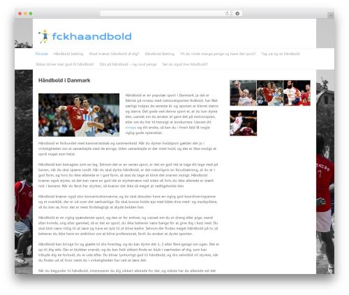 Split premium WordPress theme - fckhaandbold.dk