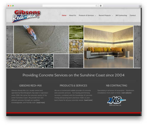 WordPress theme Avada - gibsonsredimix.com