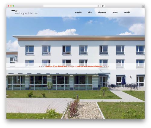 Aarhus WordPress theme - sektor3.com