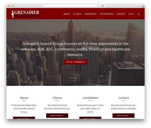Best WordPress theme Customizr Pro - grenadiersearchgroup.com