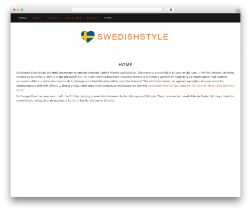 Di Blog WordPress blog template - swedishstyle.net