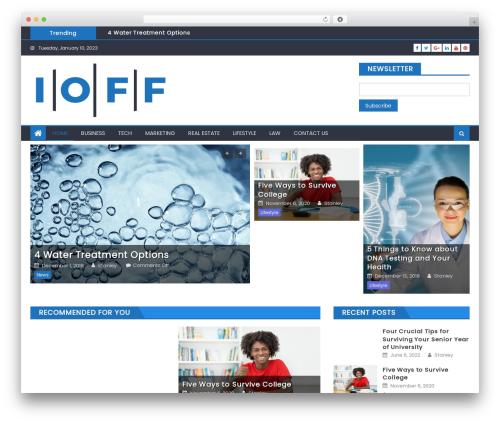 Eggnews template WordPress free - oiff.ca