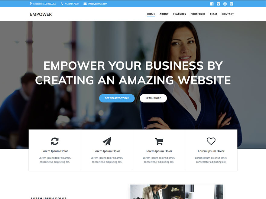 EmpowerWP WordPress shopping theme