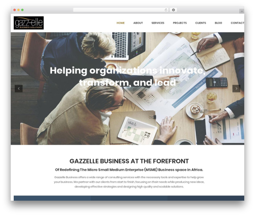 FO business WordPress theme - gazzellebusiness.com