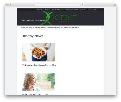 Socrates v5 WordPress template - potenthealthsupplements.com