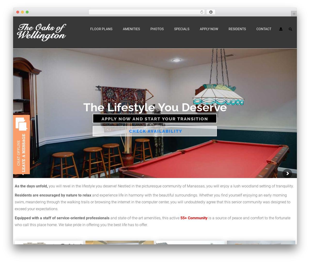 Theme WordPress opalhomes - oaksofwellington.com