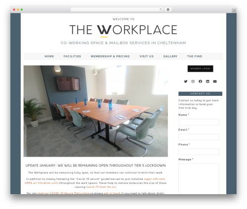WordPress theme London Calling (pipdig) - theworkplace.network