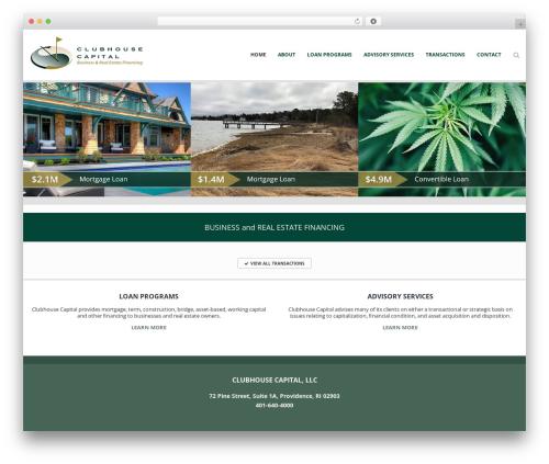 Ascendio real estate template WordPress - clubhousecapital.com