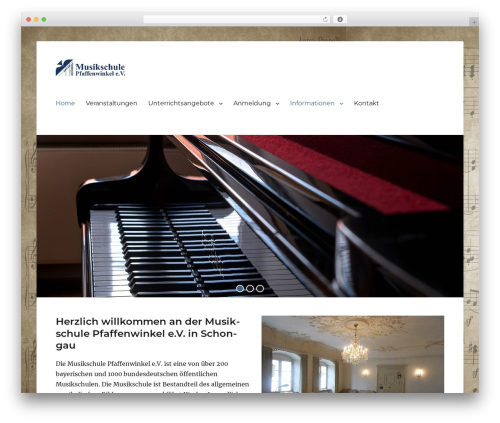 Clean Education Pro best WordPress template - musikschule-pfaffenwinkel.de