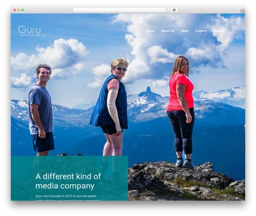 Cuber WordPress template for business - gurucom.ca