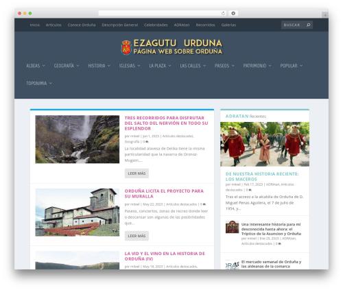 Extra premium WordPress theme - ezagutuurduna.net