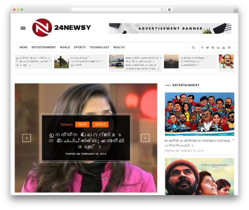 Infinity Mag newspaper WordPress theme - 24newsy.com