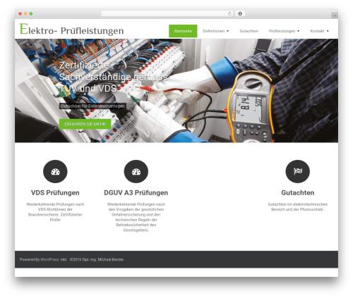 Rambo WordPress theme design - elektropruefung.info