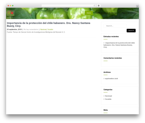 Theme WordPress Eco Friendly Lite - chilehabanero.net