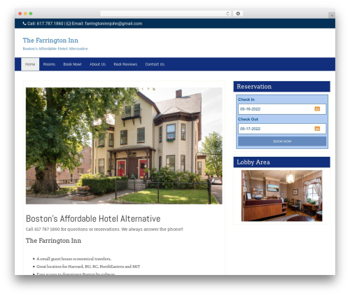 Di Business WordPress hotel theme - farringtoninn.com