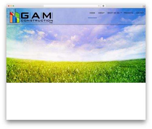 General Contractor 6 WordPress theme design - gamconstructioninc.com