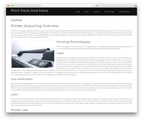 Guideline WordPress template free - parts4printers.com