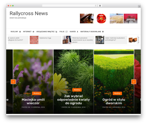 Infinity Mag WordPress news theme - rallycross-news.pl