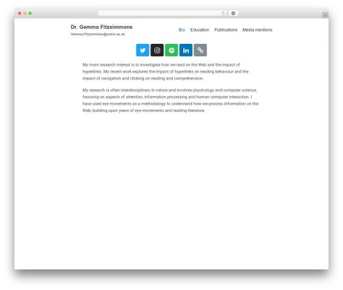 neve WordPress website template - gemmafitzsimmons.com