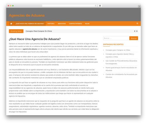 News Headline WordPress magazine theme - agenciasdeaduana.cl