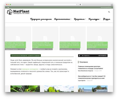 Newspaper WordPress news template - natplant.ru