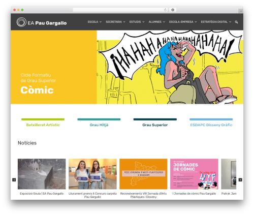 Organic Purpose theme WordPress - paugargallo.cat