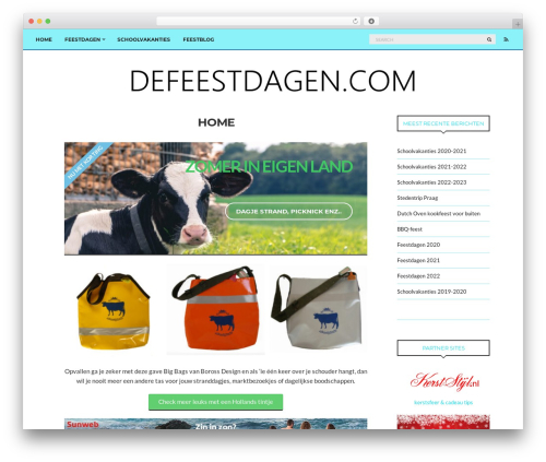 paperbag best WordPress theme - defeestdagen.com