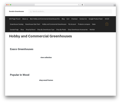 Shoptimizer WordPress store theme - durablegreenhouses.com