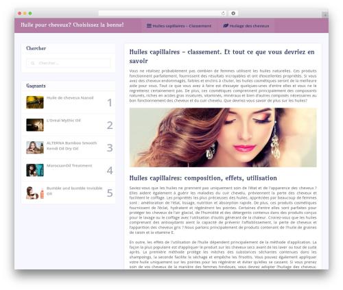 socialMe by MyThemeShop WordPress ecommerce template - huilespourcheveux.com