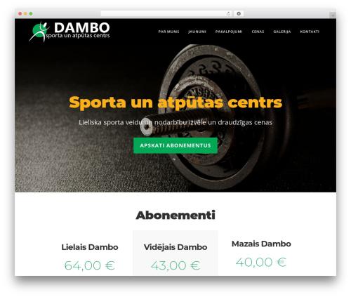 Starflix WP template - dambofitness.lv