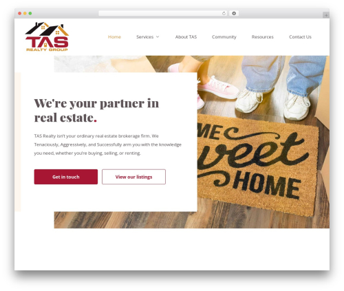 Theme WordPress Big Splash Web Design - tasrealtygroup.com