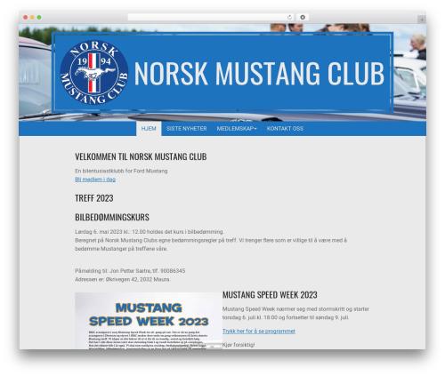 Theme WordPress Nevark - norskmustangclub.no