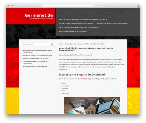 ThunderStruck WP theme - germanet.de