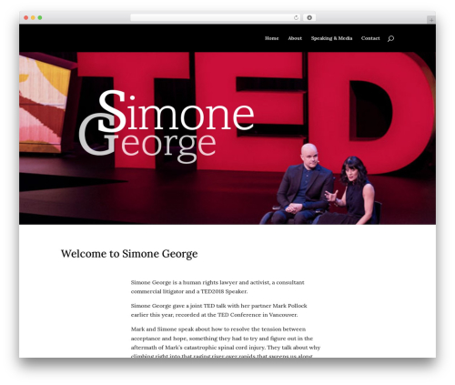 WordPress template Divi - simonegeorge.com