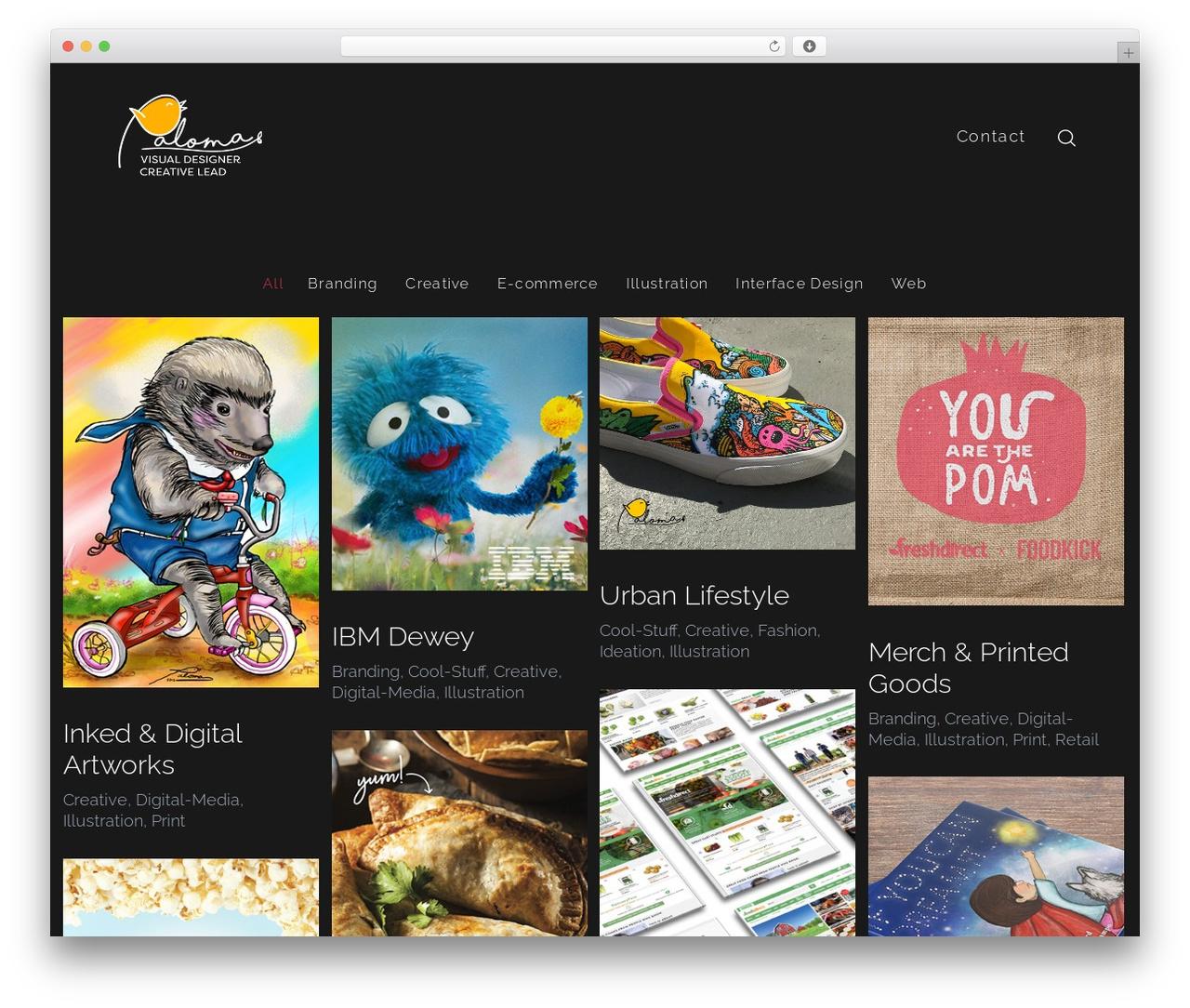 WordPress template SohoPRO - palomacampo.com