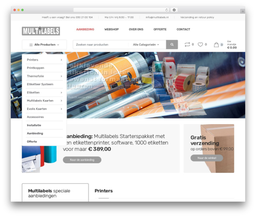 WP theme Techmarket - multilabels.nl
