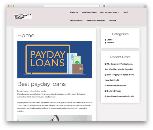 Writer Blog WordPress blog template - onlinepaydaycalifornia.com