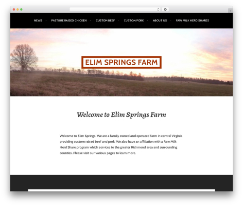 Argent theme WordPress free - elimspringsfarm.com