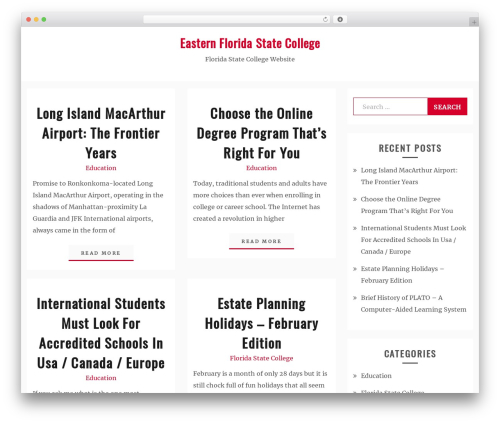 Best WordPress template Blog New - easternfloridastatecollege.org