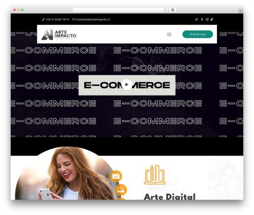 Betheme WordPress website template - arteimpacto.cl