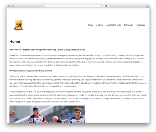 Bizworx template WordPress - washingtonpoll.org