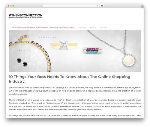 Bootstrap Blog WordPress shop theme - athensconnection.org