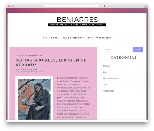 Business Insights company WordPress theme - beniarres.org