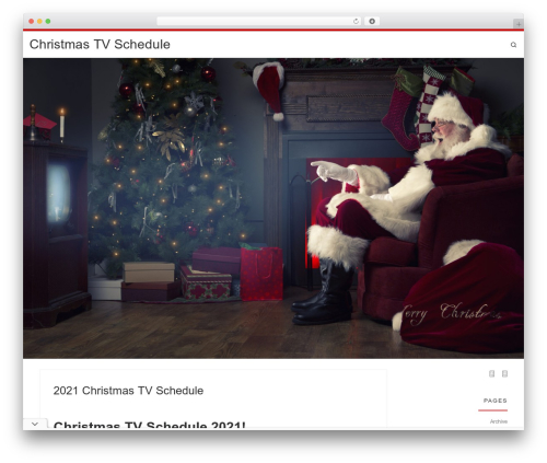 Customizr template WordPress free - christmastvschedule.com
